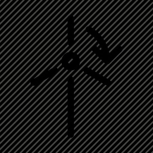 ecology, energy, environmental, nature, rotation, windmill icon