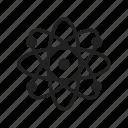 atom, laboratory, science, scientific icon