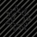 eco, light, sun, sunshine icon
