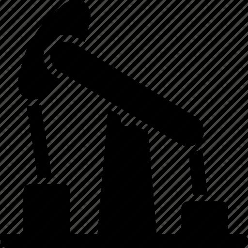 crane, factory, industrial, industry, oil, pumpjack, rig icon
