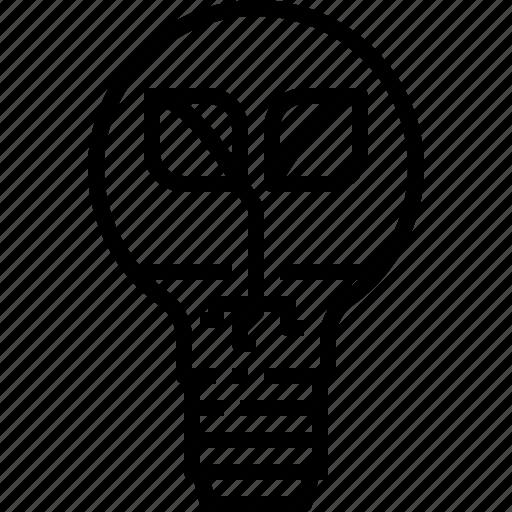 bulb, eco, energy, environment, lamp, light, plant icon