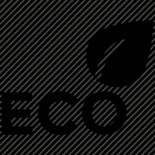 eco, eco leaf icon, eco leaf logo, eco sign, eco word icon