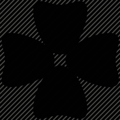 flower, shamrock shape flower, single, spring, trifoliolate icon
