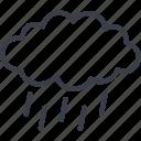 cloud, ecology, lightning, nature, storm icon