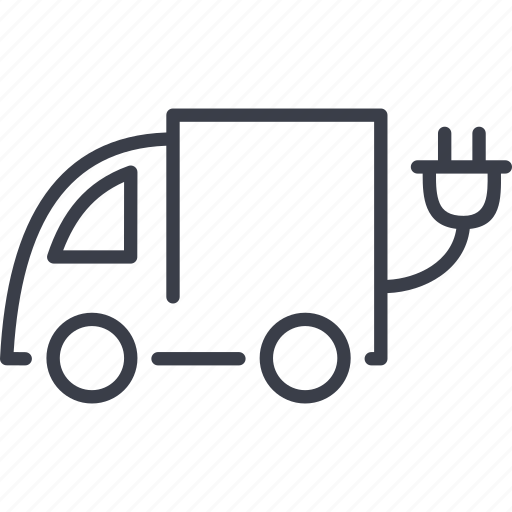 ecology, electric, electric trolley, truck icon