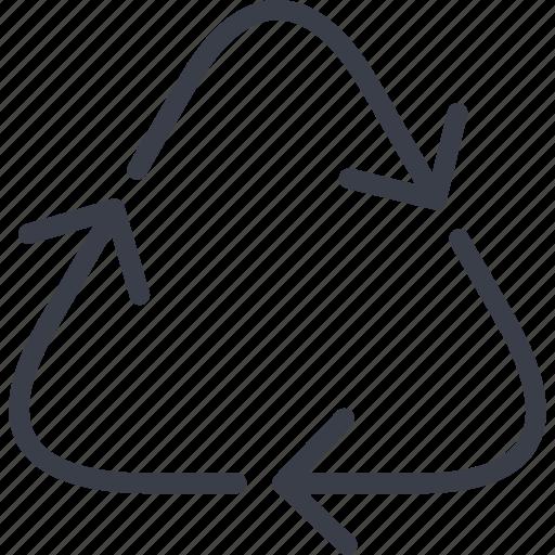 arrow, ecology, exchange, triangle icon