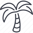 ecology, exotica, leaves, palm, tree icon