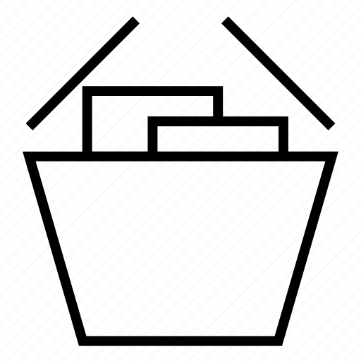 basket, box, sale, shopping bag, shopping basket, shopping icon icon