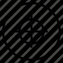 aim, goal, marketing, strategy, target, target icon