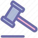 auction, claw hammer, construction, craft, hammer, watch kit icon