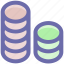 coin, coins, currency, gambling chips, money, stack icon