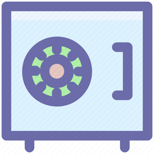 bank, money, safe, safety, security, vault icon