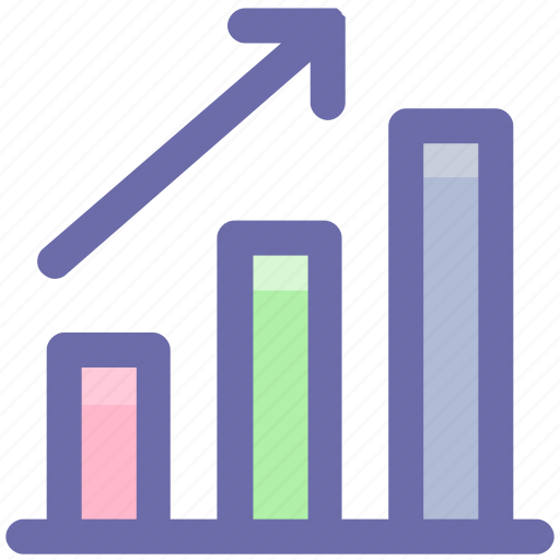 arrow, bar, business, chart, growth, up icon