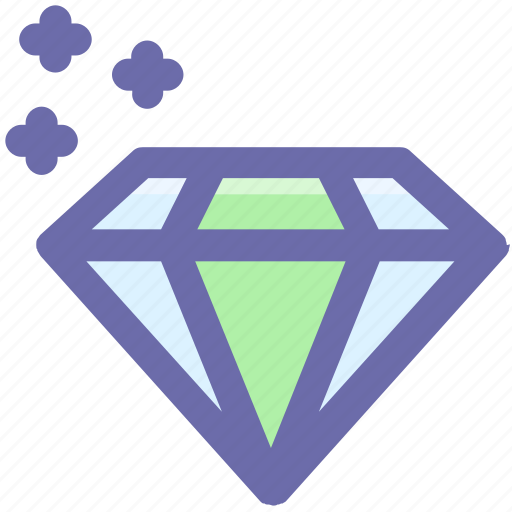 brilliant, crystal, diamond, gem, gemstone, value icon