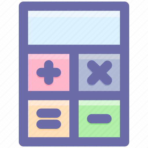 accounting, calculate, calculator, machine, office, stationery icon