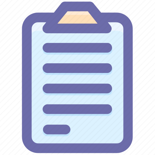 clipboard, doc, document, file, paper icon