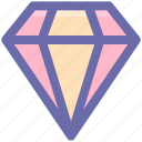 brilliant, crystal, diamond, gem, gemstone, jewelry icon