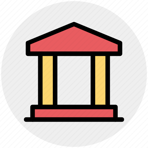 bank, business, commercial, courthouse, finance, office icon