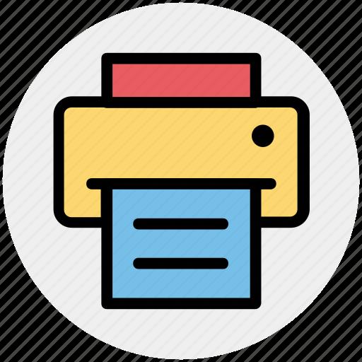 device, fax, output, print, printer, printing icon