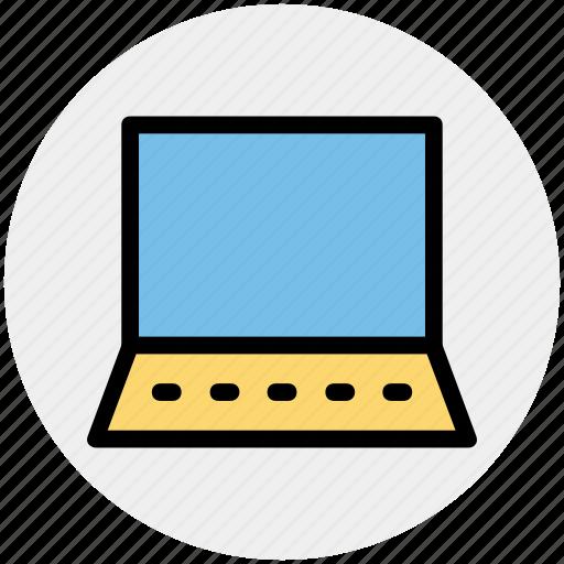 computer, device, laptop, laptop pc, open laptop, ppc icon