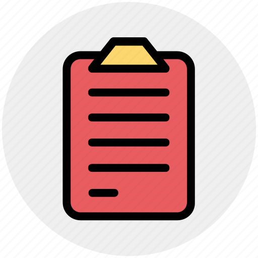 clipboard, doc, document, file, paper icon