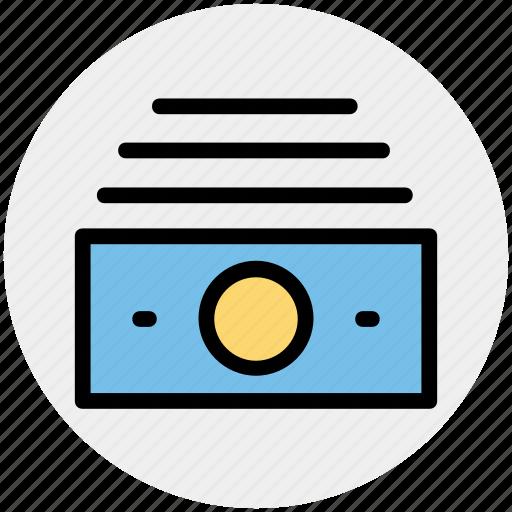 cash, dollar notes, money, paper money, saving, usd icon