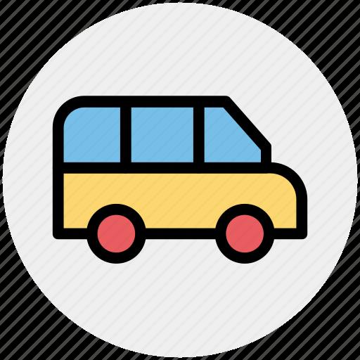 Delivery van, school van, transport, van, vehicle icon - Download on Iconfinder