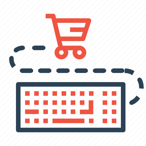 cart, ecommerce, finance, input, keyboard, sale, shopping icon