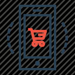 cart, device, finance, mobile, profit, sale, shop icon