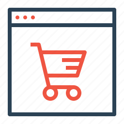 cart, discount, finance, offer, profit, shop, window icon