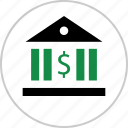 bank, banking, dollar, money, sign, wealth icon