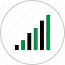 bars, business, data, graph, online, report, web icon