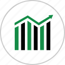 analytics, arrow, business, chart, graph, report icon