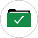 approved, archive, check, good, mark, ok icon