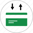 arrow, card, credit, debit, down, payments, up icon