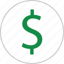 dollar, interest, money, rate, revenue, sign, wealth icon
