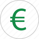 euro, interest, money, rate, revenue, sign icon