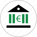 bank, banking, euro, money, revenue, sign, wealth icon