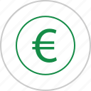 euro, interest, money, rate, revenue, sign, wealth icon