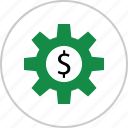 business, dollar, money, options, setup, sign, wealth icon