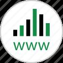 analytics, analyze, data, online, web, website, www icon