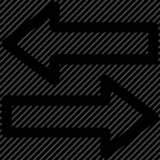 arrows, direction, flip, horizontal, swap, switch icon