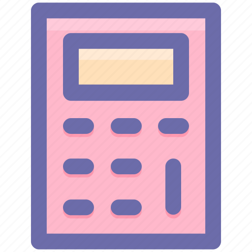 calc, calculator, education, machine, math, stationery icon