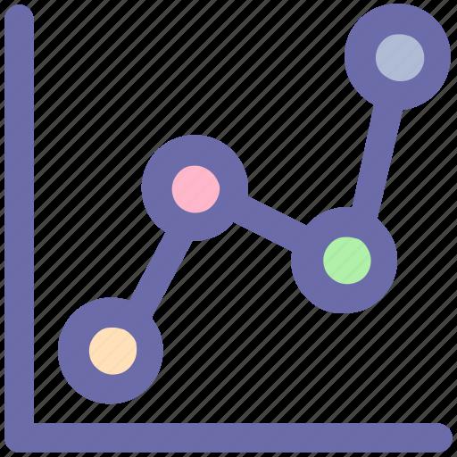 chart, diagram, graph, line graph, pie icon