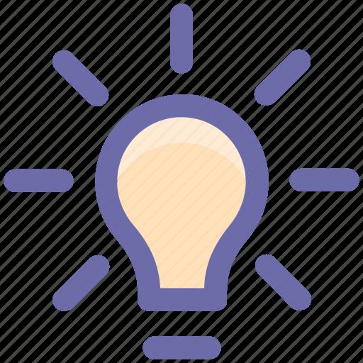 bulb, idea, light, light bulb, power icon