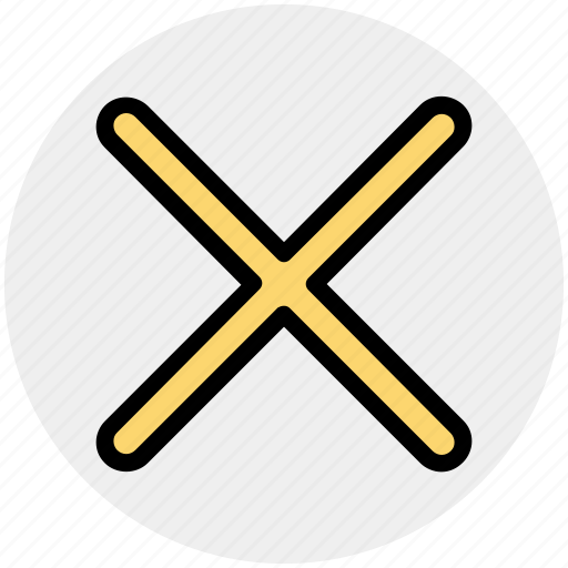cancel, close, cross, incorrect, no icon