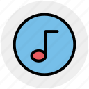 audio, music, note, song, sound icon