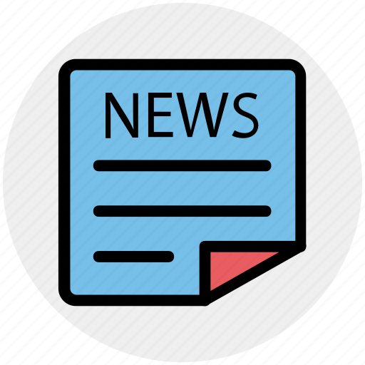 Newspaper, subscribe, paper, press, news, reading icon