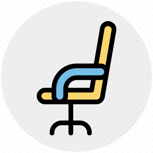 chair, director, furniture, office chair, seat icon