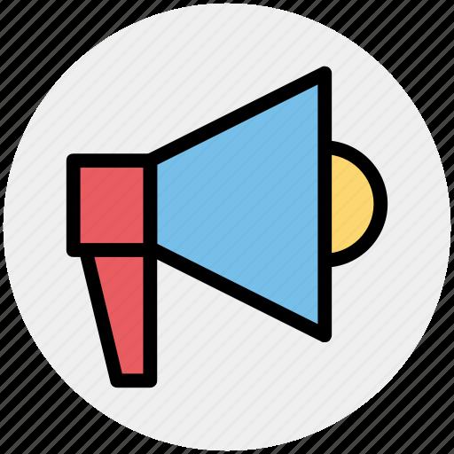 announcement, loud, loudspeaker, megaphone, sound, speaker icon